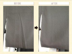 留袖の畳み皺伸ばし