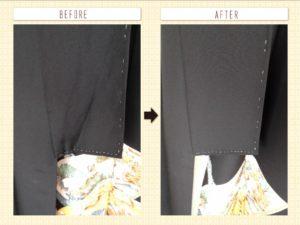 留袖衿先の畳み皺伸ばし
