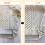 ウールセーターの古い黄変とデニムからの移染