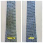 ネクタイの黄変修復